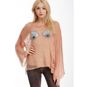 NEW Wildfox Shell Bra Lost Sweater